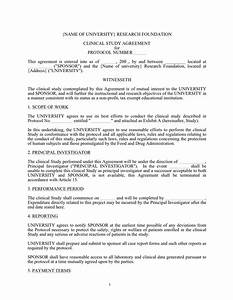 clinical study agreement template in word and pdf formats With protocol document template