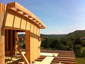 les vans maison ossature bois toiture courbe o de With good extension maison en l 16 les vans de pierres et de bois