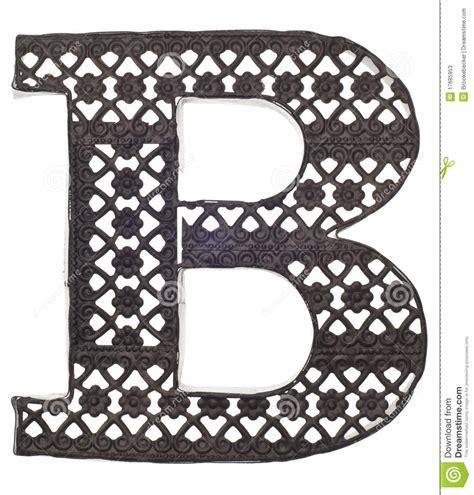Decorative Letter B decorative metal letter b stock photos image 17685953