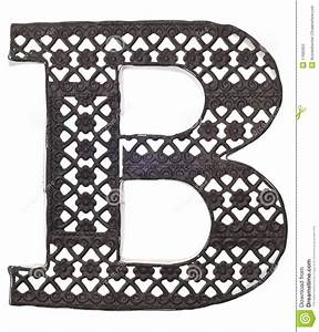 decorative metal letter b stock photos image 17685953 With decorative letter b