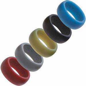 country bound silicone rings men 5 pack for active With work safe wedding rings