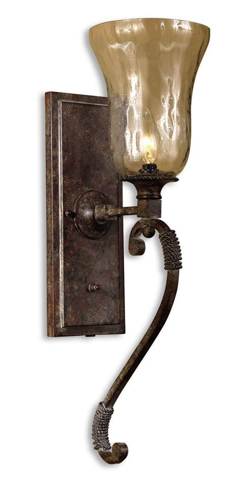 Uttermost Wall Sconces by Uttermost Galeana Glass Wall Sconces Uttermost 22418 At