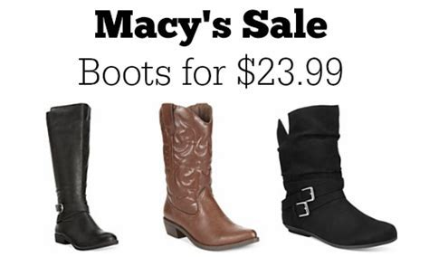 Macy's Sale: Boots for $23.99   More Deals :: Southern Savers
