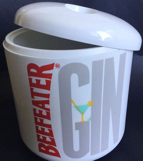 vintage beefeater gin ice bucket drinks cooler plastic