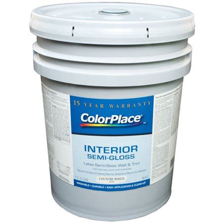 colorplace interior gloss latex wall and trim paint country white walmart com