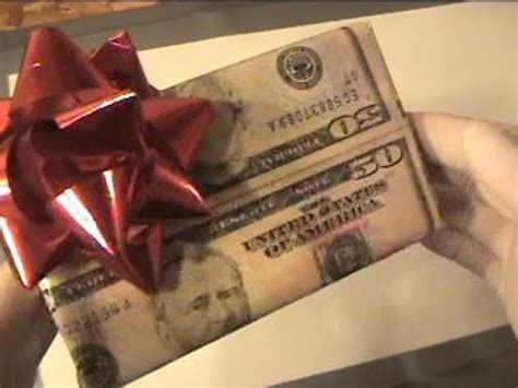 wrapping a christmas gift with real 50 dollar bills youtube
