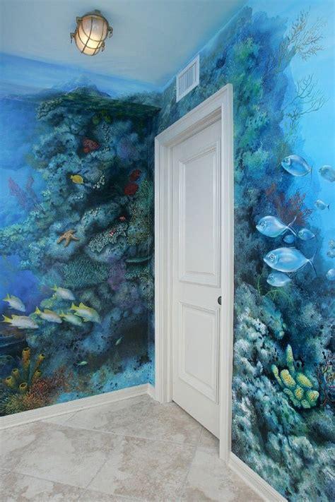 Bathroom Wall Painting Ideas by Sea Fish Aquarium Tropical Coral Reef Mural Neat
