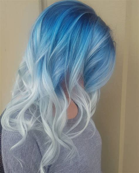 Hair And Blue by 30 Icy Light Blue Hair Color Ideas For