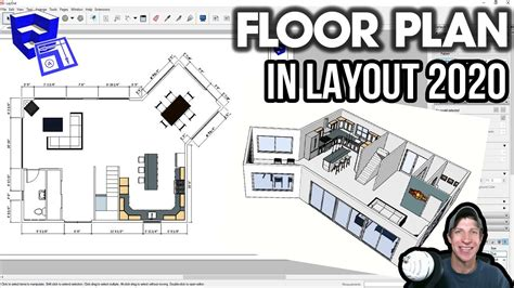Creating a Floor Plan in LAYOUT 2020 from a SketchUp Model