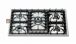 Plaque De Cuisson Blanche : plaque de cuisson gaz 90 cm noire inox encastrable 5 feux ~ Dailycaller-alerts.com Idées de Décoration