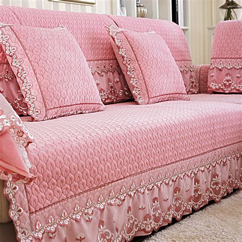 europe plush fabric cover sofa quilted flocked universal