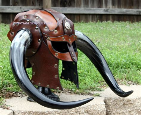 Details About Horned Leather Helmet Fantasy Mask Armor Sca