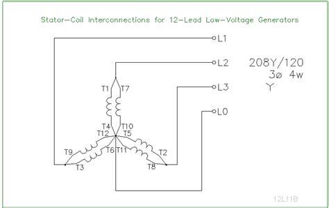 Generator Stator Wiring Diagram by 12 Lead Stator Generators Schematics Ecn Electrical Forums