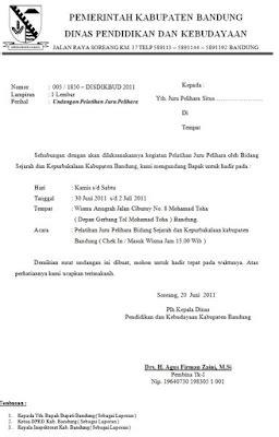 contoh surat undangan resmi pemerintahan dan organisasi