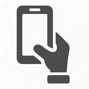 Hand, mobile, phone, smartphone icon