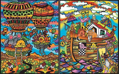 cartellina  disegno  velluto da colorare arca  noe