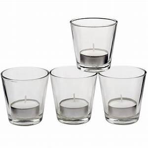 Glas Kerzenhalter Für Teelichter : teelicht gl ser 4er set glas 6 5 cm teelichter kerzenhalter 4 teelichtgl ser ebay ~ Bigdaddyawards.com Haus und Dekorationen