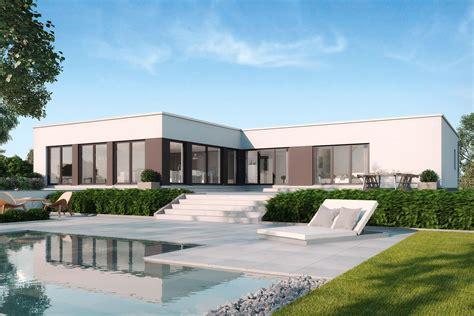 Luxus Bungalow Mit Garage by Sch 246 N Luxus Fertighaus Mit Pool