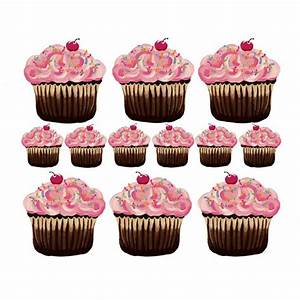 sherri blum small pink cupcake wall stickers the frog With beautiful cupcake wall decals