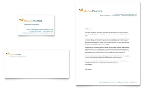 medical practice business card letterhead template