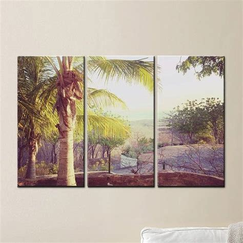 palm tree mountain view wall canvas decorations