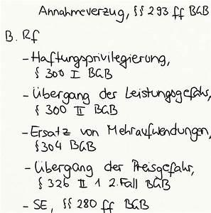 Fälligkeit Rechnung Bgb : annahmeverzug 293 ff bgb rechtsfolgen exkurs jura online ~ Themetempest.com Abrechnung
