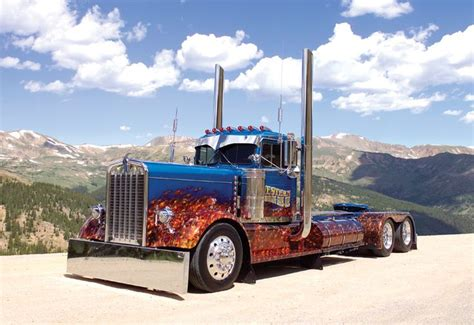 big kenworth trucks cool flame paint job custom big rigs pinterest rigs