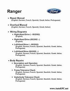 Ford Ranger Workshop Service Manual Repair Manual Order