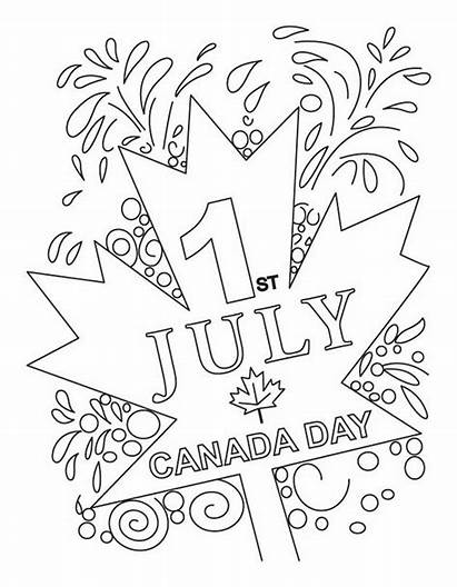 Canada Coloring Pages Sheets July Canadian 1st