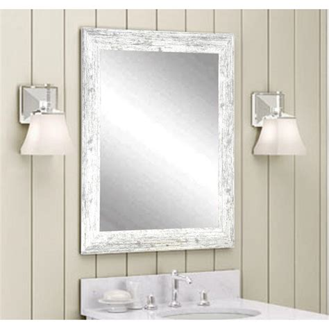 Decorative Bathroom Mirrors by Distressed Decorative Rectangle White Wall Mirror