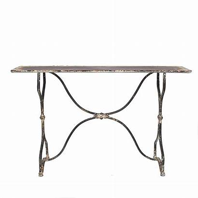 Metal Table Distressed 3r Studios Console Length