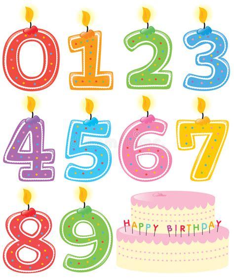 candele di compleanno candele e torta numerate di compleanno illustrazione