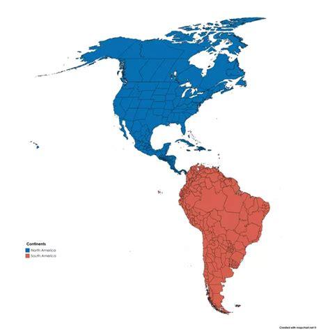 map  south america  north america  travel