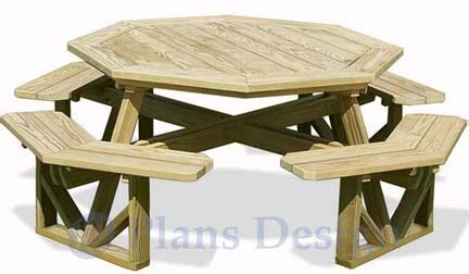 octagon game table plans classic large octagon picnic table bench woodworking