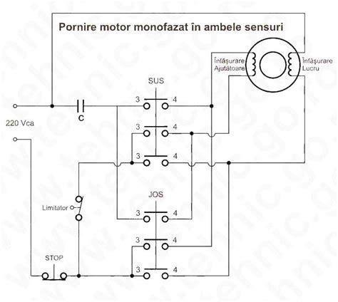 Legare Motor Monofazic by Pornire Motor Monofazat In Ambele Sensuri