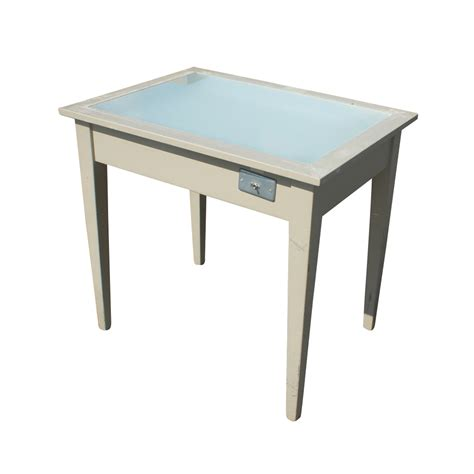 drawing desk with lightbox midcentury retro style modern architectural vintage