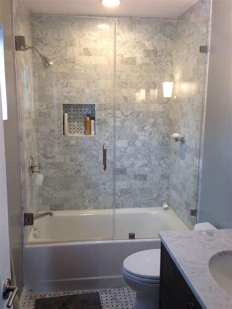 tub glass door ideas  pinterest shower tub