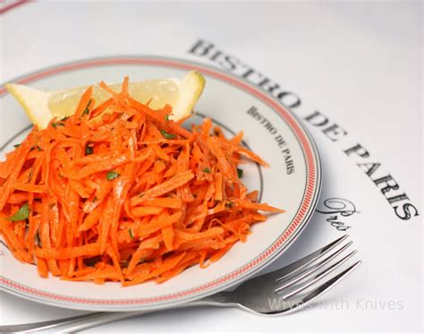 french bistro carrot salad wives  knives