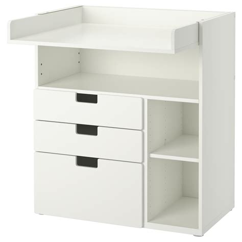 stuva changing table with 3 drawers white 90x79x102 cm ikea