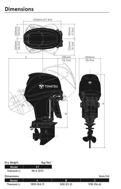 Tohatsu 60Ahp outboard engine