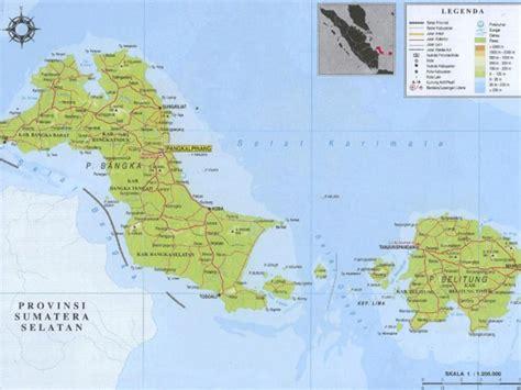 peta kepulauan bangka belitung sejarah iklim geografi