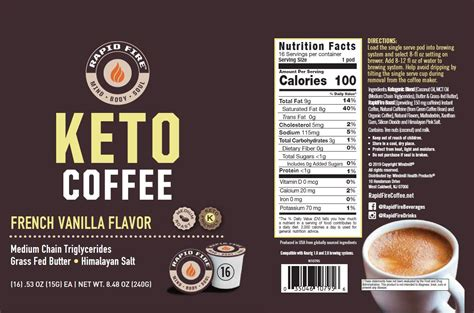 Today, many people are incorporating healthy fatty acids in their diets for numerous functional and now with rapid fire keto coffee pods french vanilla flavor, you can experience this innovative coffee freshly brewed in your home or office coffee. Rapid Fire Keto Coffee - French Vanilla pods - Windmill Vitamins