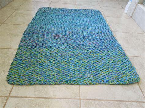 blue and green bathroom ideas cotton bath mat free knitting pattern
