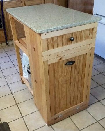 kitchen island trash bin small kitchen island trash bin built in wood work