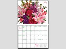 Free Wall Calendar A Year of Flowers by 1800FLORALS
