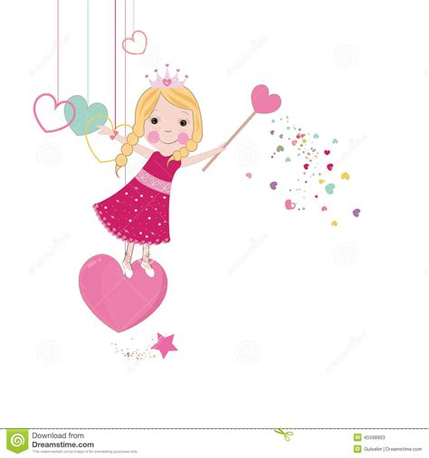 tarjetas de cumplea os para ni as fondo lindo del cuento de hadas del amor ilustración del