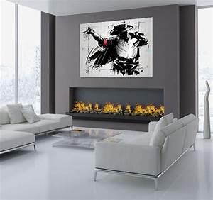 Tableau Deco Noir Et Blanc : tableau design moonwalk ~ Teatrodelosmanantiales.com Idées de Décoration
