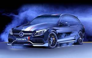 2016 Piecha Design Mercedes AMG C63 Estate Black Wallpaper ...