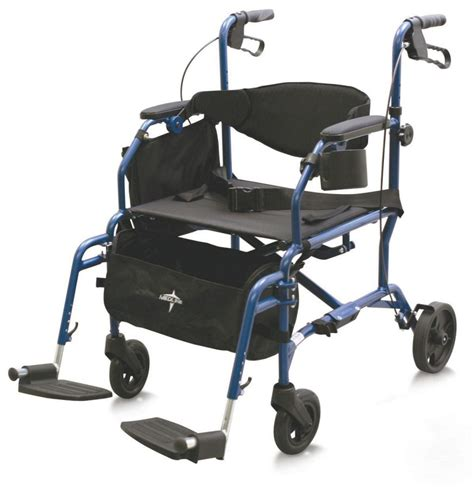 medline medline transport chair rollator hybrid 250 lb
