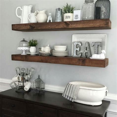 kitchen shelf ideas shanty2chic dining room floating shelves by myneutralnest